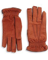 Brunello Cucinelli - Cashmere Lined Suede Gloves - Lyst