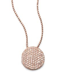 Phillips House - 14k Rose Gold & Diamond Infinity Pendant Necklace - Lyst