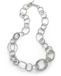 Ippolita - Glamazon Sterling Silver Bastile Element Short Link Chain Necklace - Lyst