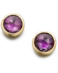 Marco Bicego - Jaipur Amethyst & 18k Yellow Gold Stud Earrings - Lyst
