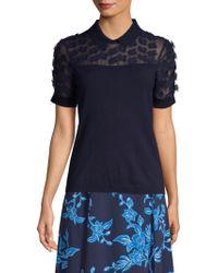 Draper James - Fleurette Embellished Sweater - Lyst