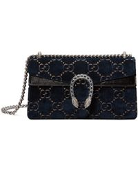 8fd8e105e89a Gucci - Women's Small Dionysus GG Velvet Shoulder Bag - Blue - Lyst