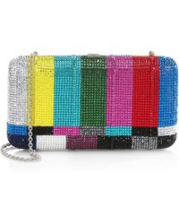 Judith Leiber - Tv Static Crystal Rectangle Clutch - Lyst