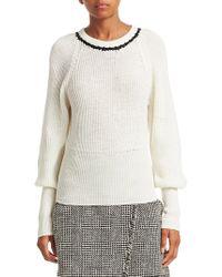 Tanya Taylor - Ingrid Wool Balloon Sleeve Sweater - Lyst