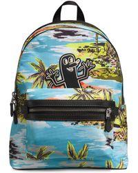 COACH - X Keith Haring Hawaiian-print Backpack - Lyst