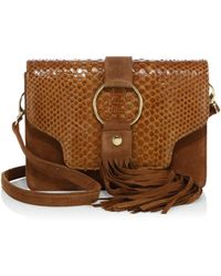 Mr. - Reed Suede & Python Crossbody Bag - Lyst