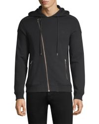 The Kooples - Biker-cut Cotton Sweatshirt - Lyst