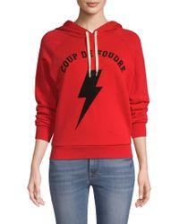 FRAME - Shrunken Hooded Sweatshirt - Lyst