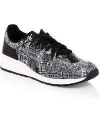 c678a05b31 Onitsuka Tiger - Men s Tiger Ally Graphic Sneakers - Black White - Size 8.5  - Lyst