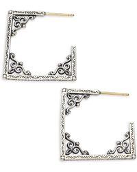 Konstantino | Penelope Sterling Silver Window Hoop Earrings | Lyst