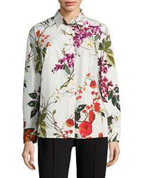 ESCADA - Nicoli Floral-print Cotton Shirt - Lyst