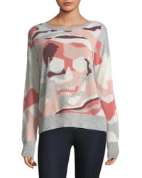 360cashmere - Camouflage Skull Sweater - Lyst