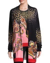 Etro - Leopard Stampa Cardigan - Lyst
