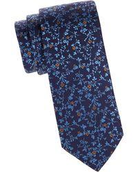 Eton of Sweden - Blue Floral Silk Tie - Lyst