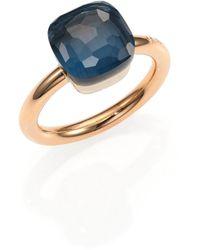 Pomellato - Nudo London Blue Topaz & 18k Rose Gold Ring - Lyst