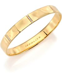 Ippolita - Glamazon Stardust Diamond & 18k Yellow Gold Five-section Wide Bangle Bracelet - Lyst