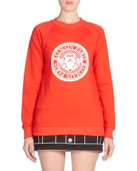 Balmain - Cotton Logo Sweatshirt - Lyst