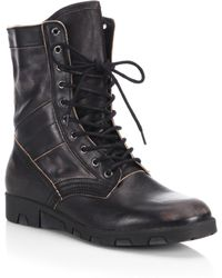 DIESEL - Leather Mid-calf Boots - Lyst