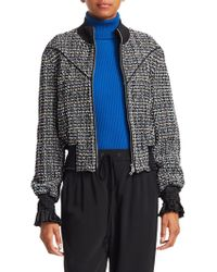 3.1 Phillip Lim - Textured Tweed Track Jacket - Lyst