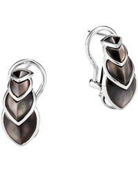 John Hardy - Legends Naga Sterling Silver & Grey Mother-of-pearl Buddha Belly Earrings - Lyst