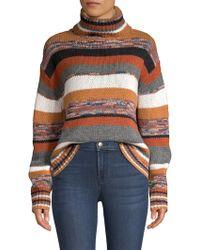 360cashmere - Elenor Striped Crop Cashmere Turtleneck Jumper - Lyst