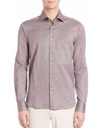 Saks Fifth Avenue - Buttoned Cotton Shirt - Lyst