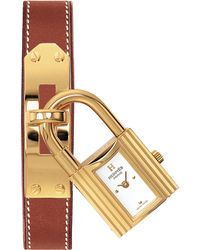 Hermès - Kelly Pm Goldtone Stainless Steel & Leather Strap Watch - Lyst