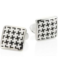 David Donahue - Houndstooth Sterling Silver Cuff Links - Lyst