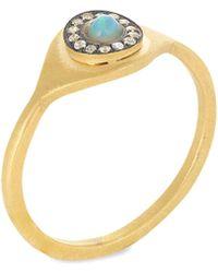 Ileana Makri - Eye Sun White Sapphire & Opal Ring - Lyst