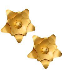 Paula Mendoza - Kogi Gold-plated Brass Earrings - Lyst
