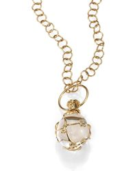 Temple St. Clair - Tree Of Life Rock Crystal, Diamond & 18k Yellow Gold Medium Vine Amulet - Lyst