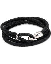 Miansai - Trice Sterling Silver & Leather Hook Bracelet - Verde - Lyst