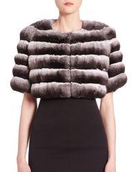 Saks Fifth Avenue | Chinchilla Fur Bolero | Lyst