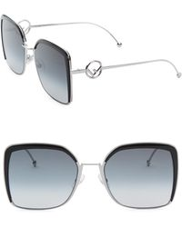 Fendi - 58mm Oversized Square Sunglasses - Lyst