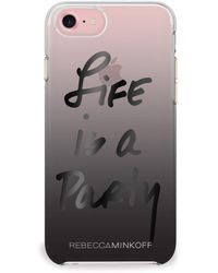 Rebecca Minkoff - Life Is A Party Foil Double Up Iphone 7 Case - Lyst
