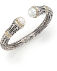 Konstantino - Classic 10mm White Mabe Pearl, 18k Yellow Gold & Sterling Silver Cuff Bracelet - Lyst