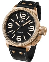 TW Steel - Canteen Automatic Rose-gold Stainless Steel Watch - Lyst