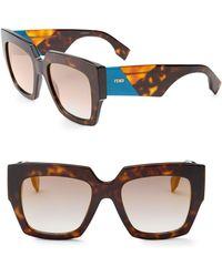 f9e63efa5be Lyst - Fendi Havana Butterfly Sunglasses in Brown
