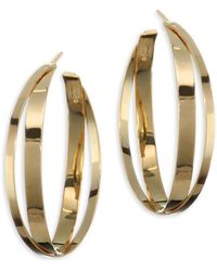 Lana Jewelry - 15-year Anniversary Small Double Crisscross Hoop Earrings/1.5 - Lyst