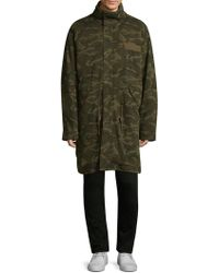 Yves Salomon - Camouflage Fur Lined Parka - Lyst