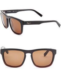 Ferragamo - Havana 55mm Wayfarer Sunglasses - Lyst