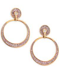 Plevé - Opus Pink Diamond & 18k Rose Gold Hoop Earrings - Rose Gold - Lyst