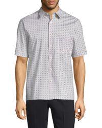 Theory - Bruner Dot Print Button-down Shirt - Lyst