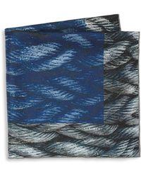 Hook + Albert - Mystic Rope Sling Silk Pocket Square - Lyst