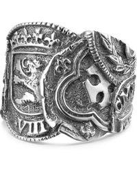 David Yurman - Sterling Silver Shipwreck Coin Band Ring - Lyst