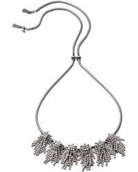 ABS By Allen Schwartz - Rhinestone Frontal Necklace - Lyst