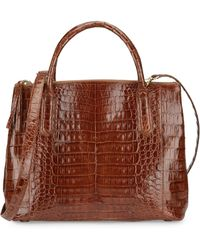 Nancy Gonzalez - Women's Medium Nix Crocodile Double Zip Tote - Black - Lyst