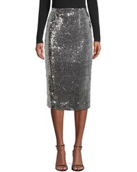 MILLY - Jamie Sequin Pencil Skirt - Lyst