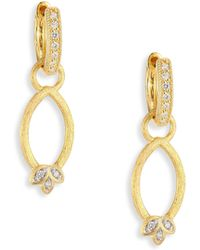Jude Frances - Sonoma Simple Marquis Leaf Diamond & 18k Yellow Gold Earring Charms - Lyst
