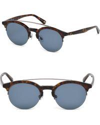 Web - 49mm Round Pilot Sunglasses - Lyst